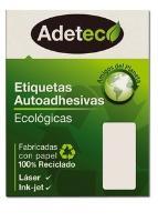 ETIQUETA AUTOADHESIVA ADETEC INKJET/LASER 101 X 51MM 50 HJS.